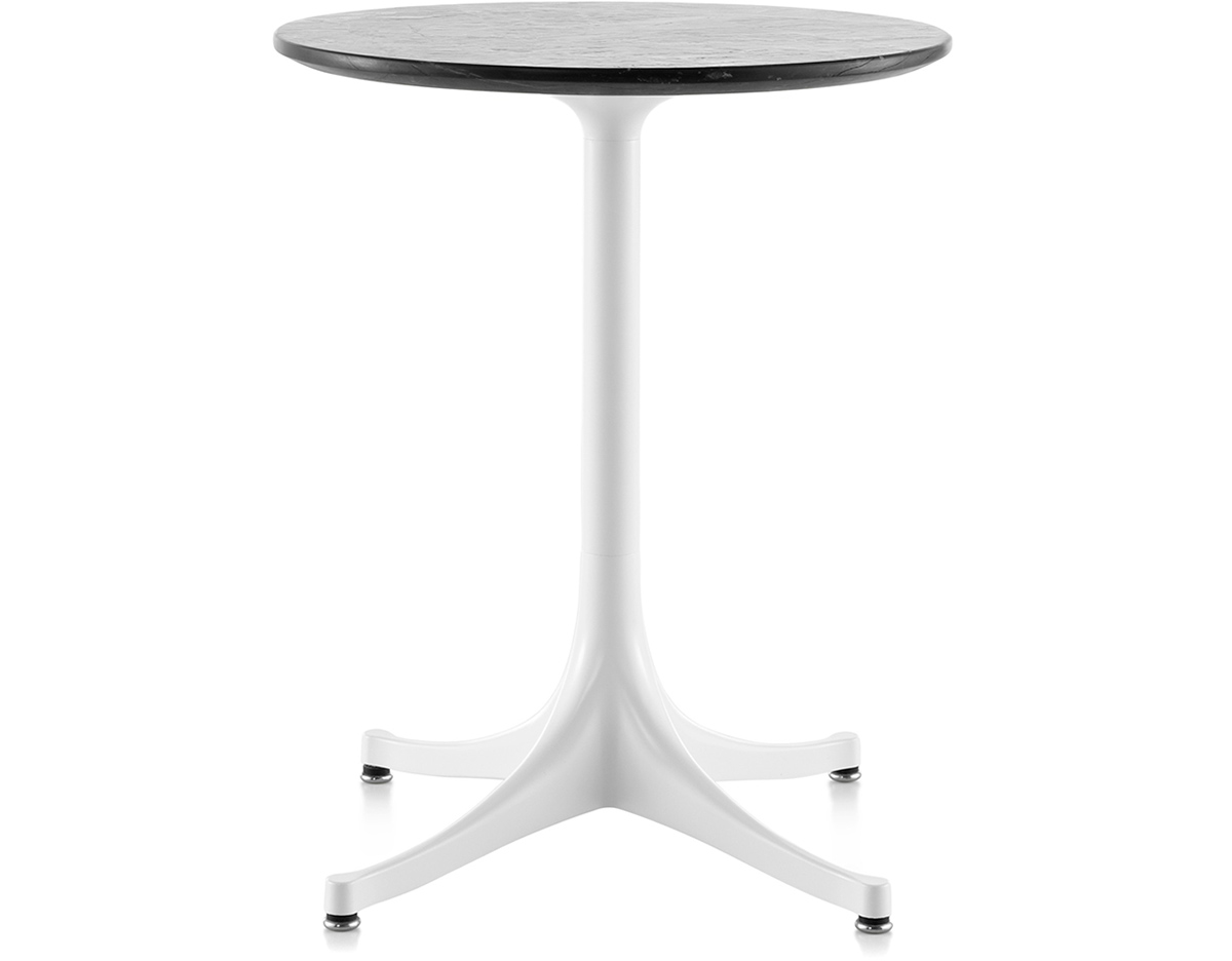 nelson pedestal side table hivemodern george herman miller outdoor tall pine furniture small square accent wood kitchen sets drum target tablecloths set tro ikea lack coffee