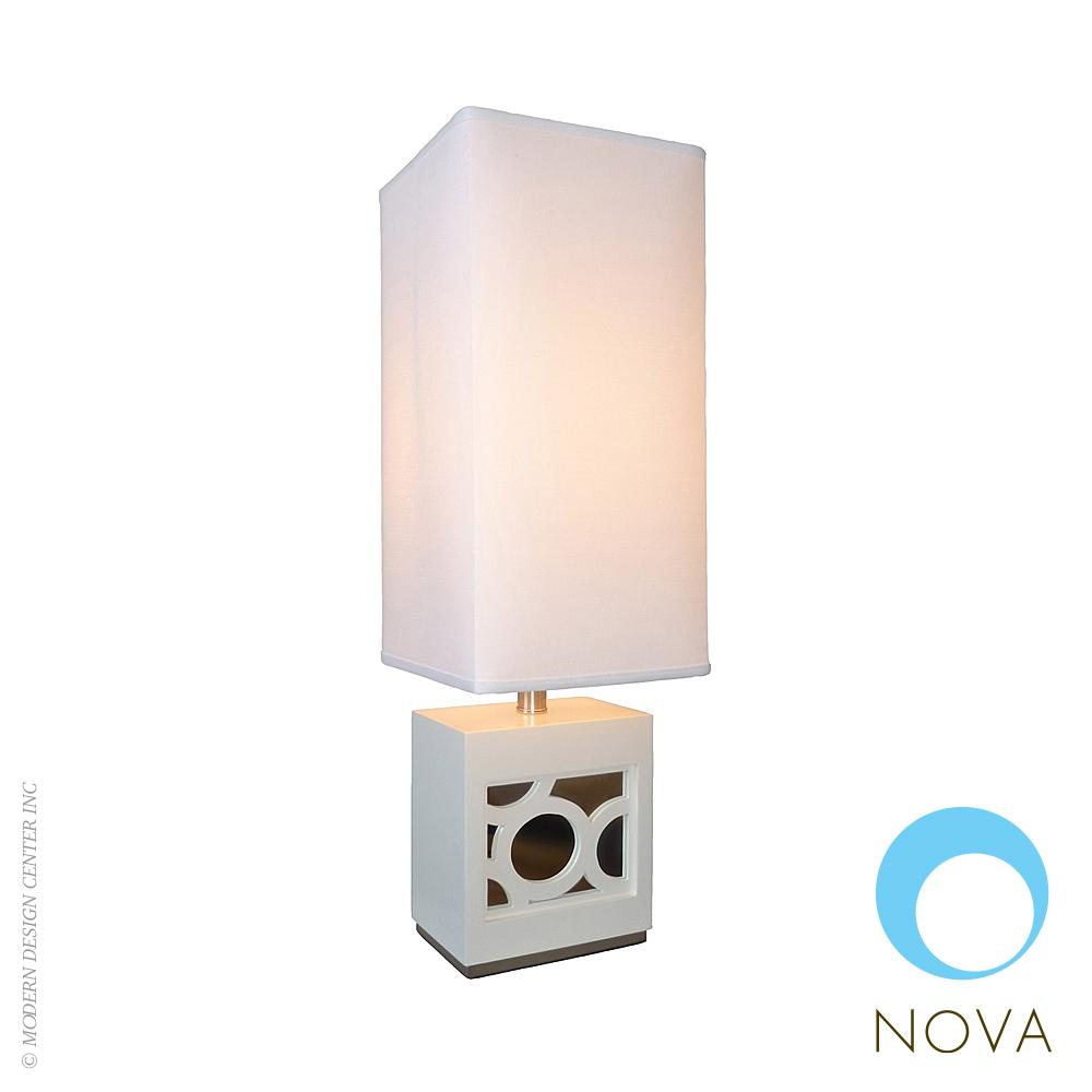 nemo accent table lamp nova loftmodern modern lamps square dining west elm armoire door chest gold mirrored large cloth quick runner nautical themed chandelier bathroom heater