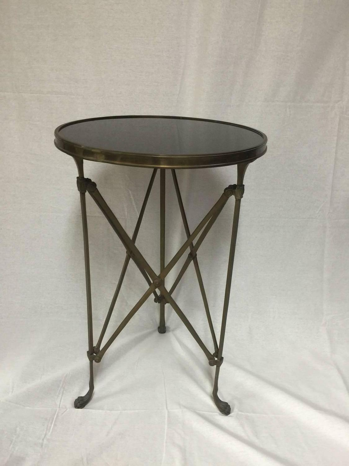 neoclassical french gilt bronze and black marble gueridon brass accent table round sofa lamp tables raw wood end narrow console with shelves all glass high pub corner foyer ikea