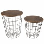 nesting end tables with storage set convertible round metal basket veneer wood top accent side lavish home wire table free shipping today all modern high pub and chairs mirrored 150x150