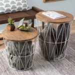 nesting end tables with storage set convertible round metal basket veneer wood top accent side lavish home wire table free shipping today mid century modern dining room plastic 150x150