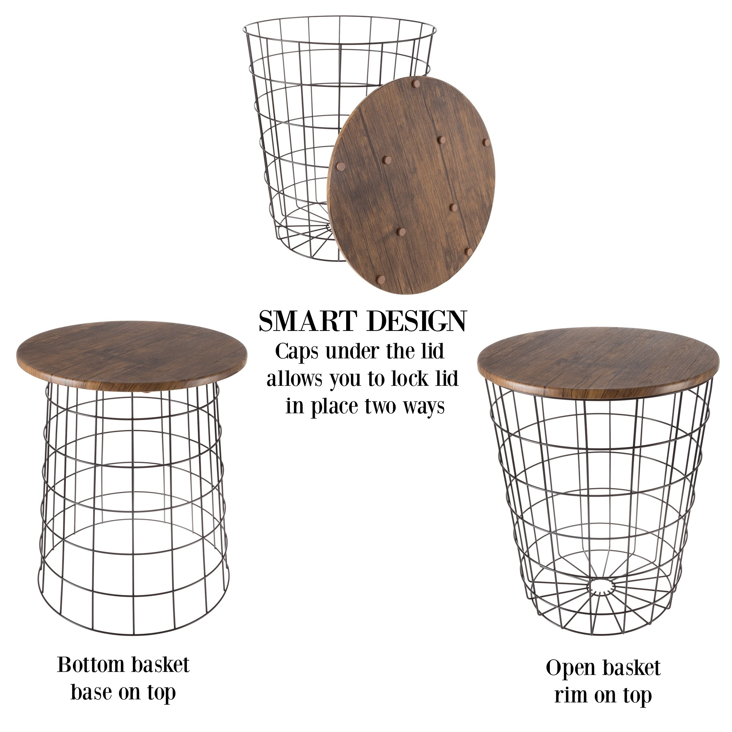 nesting end tables with storage set convertible round metal basket veneer wood top accent side lavish home wire table free shipping today mirrored bedside ikea outdoor garden high