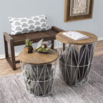 nesting end tables with storage set convertible round metal wire basket accent table veneer wood top side for home and office lavish black bunk beds high pub chairs counter height 150x150