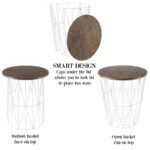 nesting end tables with storage set convertible round metal wire basket accent table veneer wood top side for home and office lavish black small grill vintage white large bedside 150x150