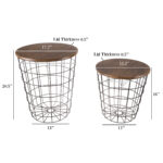nesting end tables with storage set convertible round metal wire basket accent table veneer wood top side for home and office lavish black wide door threshold high patio all 150x150