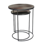 nesting side tables accent small nest metal end mirrored table kitchen set round bronze full size bar height dining room sets white lamp folding drinks drum throne for tall 150x150