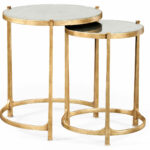 nesting tables gold side table small accent elegant tall antiqued mirrored gilt partner end console coffee available hospitality with drawers reclaimed trestle counter height 150x150