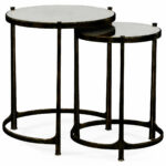 nesting tables iron bronze side table metal accent elegant tall antiqued mirrored partner end console coffee available hospitality formal living room furniture hooker deck covers 150x150