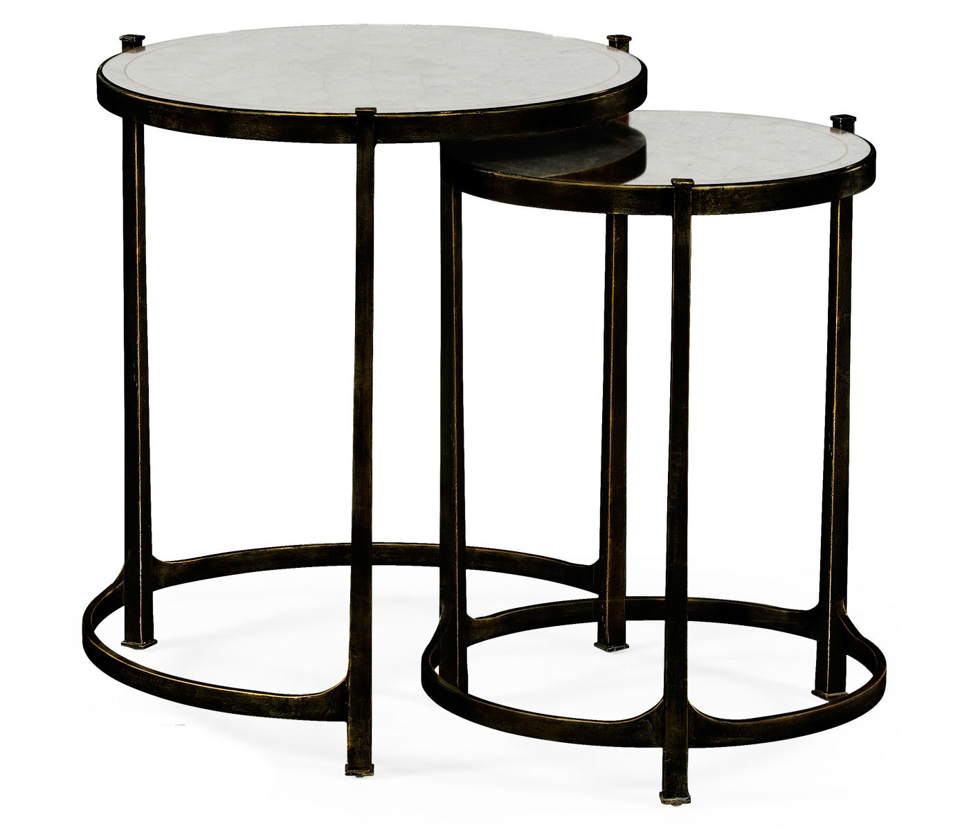 nesting tables iron bronze side table metal accent elegant tall antiqued mirrored partner end console coffee available hospitality formal living room furniture hooker deck covers