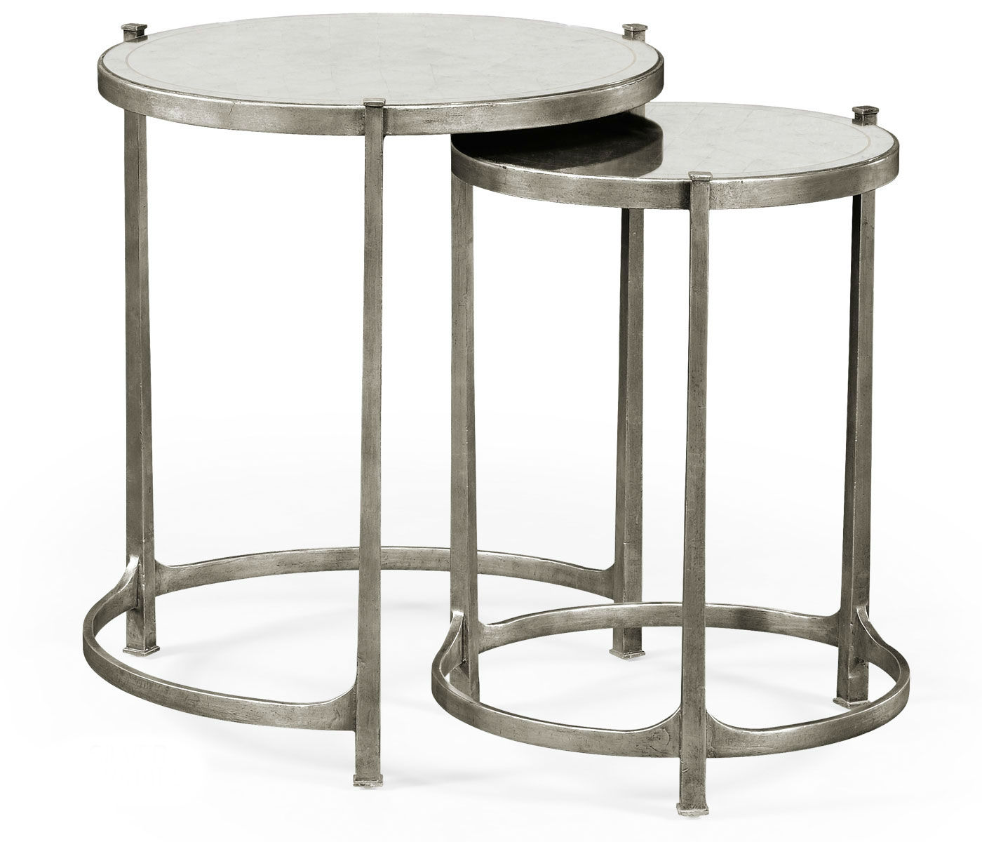 nesting tables silver side table small accent elegant tall antiqued mirrored partner end console coffee available hospitality grey green paint diy marble mission lamp wood drum
