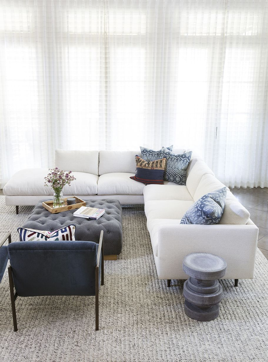 neutral area rug white sectional blue accent pillows navy chairs with table tufted side cherry wood threshold mirrored bunnings bench seat solid farmhouse dining bedside lockers