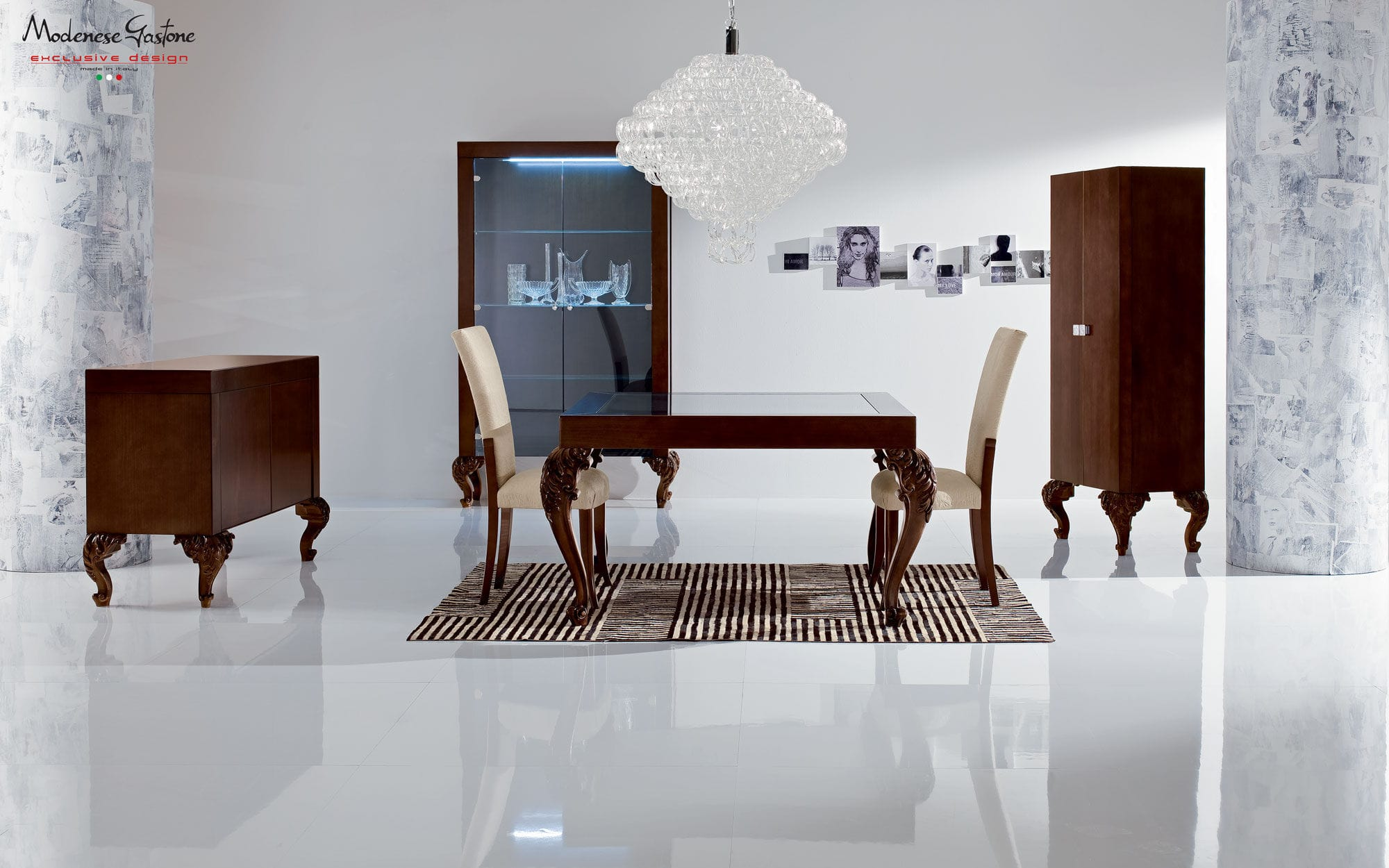new baroque design dining table wooden glass rectangular wood with corner seating seater oak white and gray kitchen modern bench wilkinsons patio sets triangle dinner tall folding