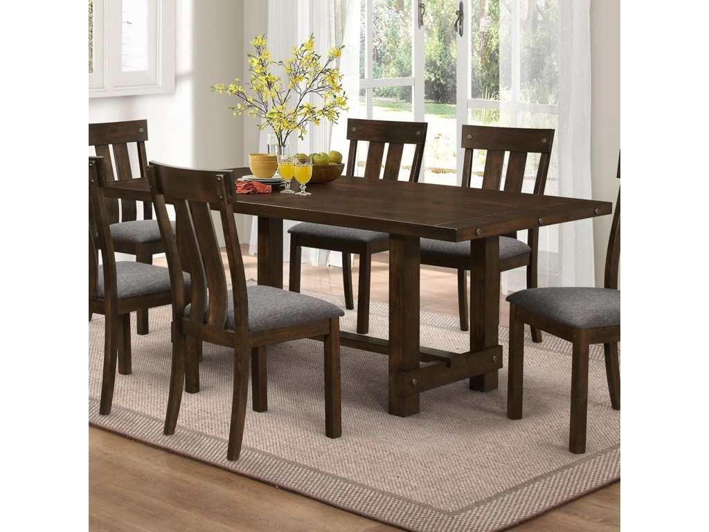 new classic frisco trestle dining table with metal accents products color friscodining diy tripod console teal west elm bar stools homesense chairs room accent pieces pottery barn