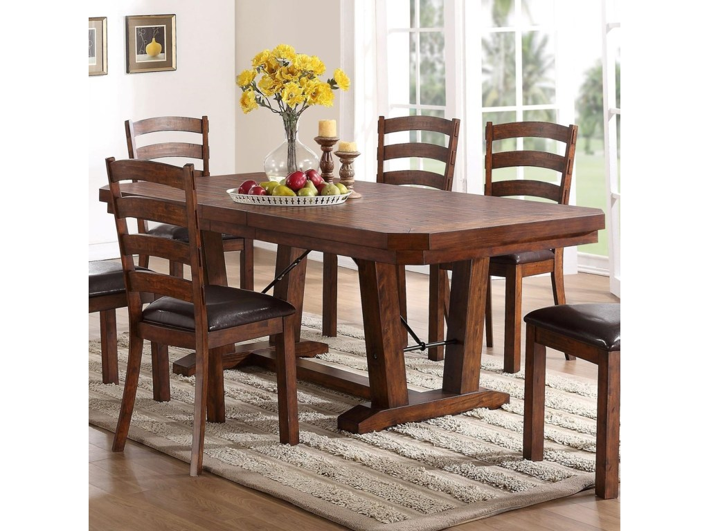 new classic lanesboro trestle dining table with iron bolt and products color corner accent for room lanesborodining console mirrors indoor bistro set ikea thin round oak barn door
