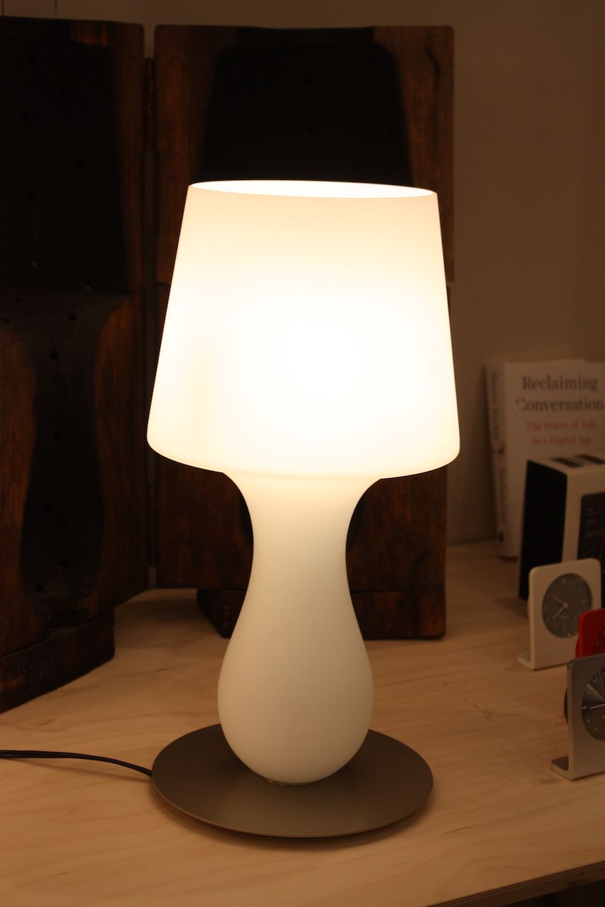 new designs make table lamps and floor more desirable ameico design lamp accent with attached showed this softly luminous called the fata glass smaller modern contemporary coffee