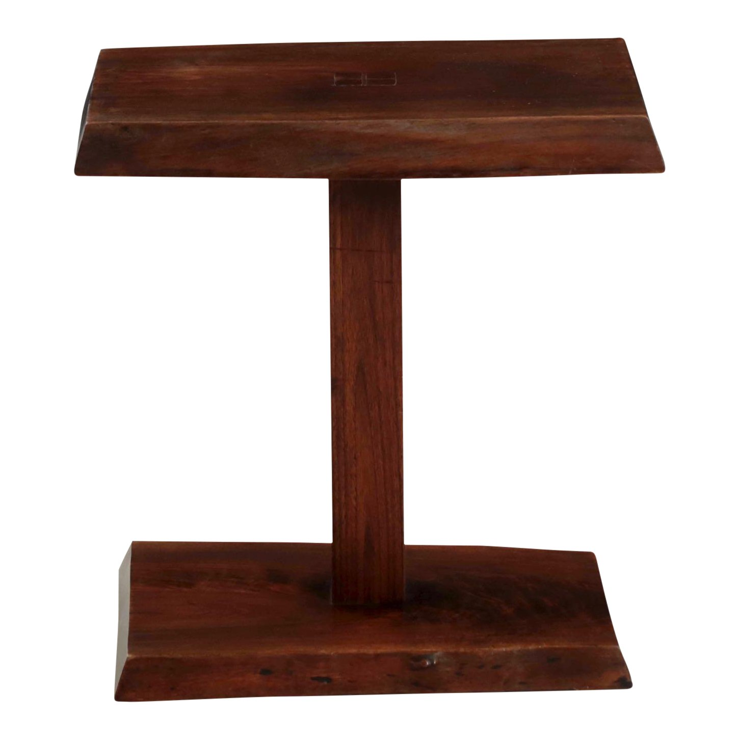 new hope school live edge walnut side table alan rockwell circa accent brown chairish kitchen lamp shades mid century wood legs bench chairs for living room threshold marble top
