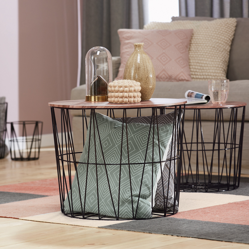 new impressive lidl homeware range goes today home table wire basket accent the livarno living nest set are our standout favourites from this simple sure make your room elegant