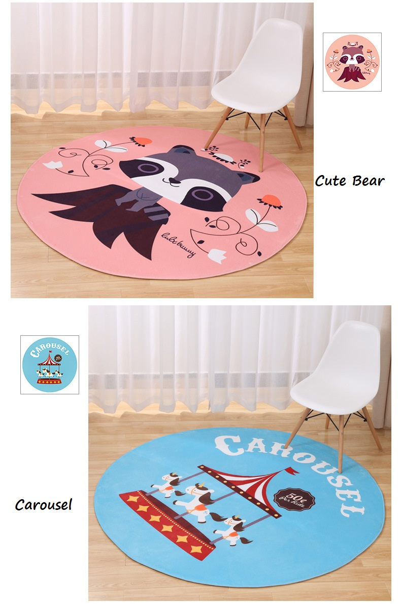 new lovely animal round carpet diameter super soft triller accent table target coral fleece living room children kids bedroom mat rug wood coffee with metal frame beach clock