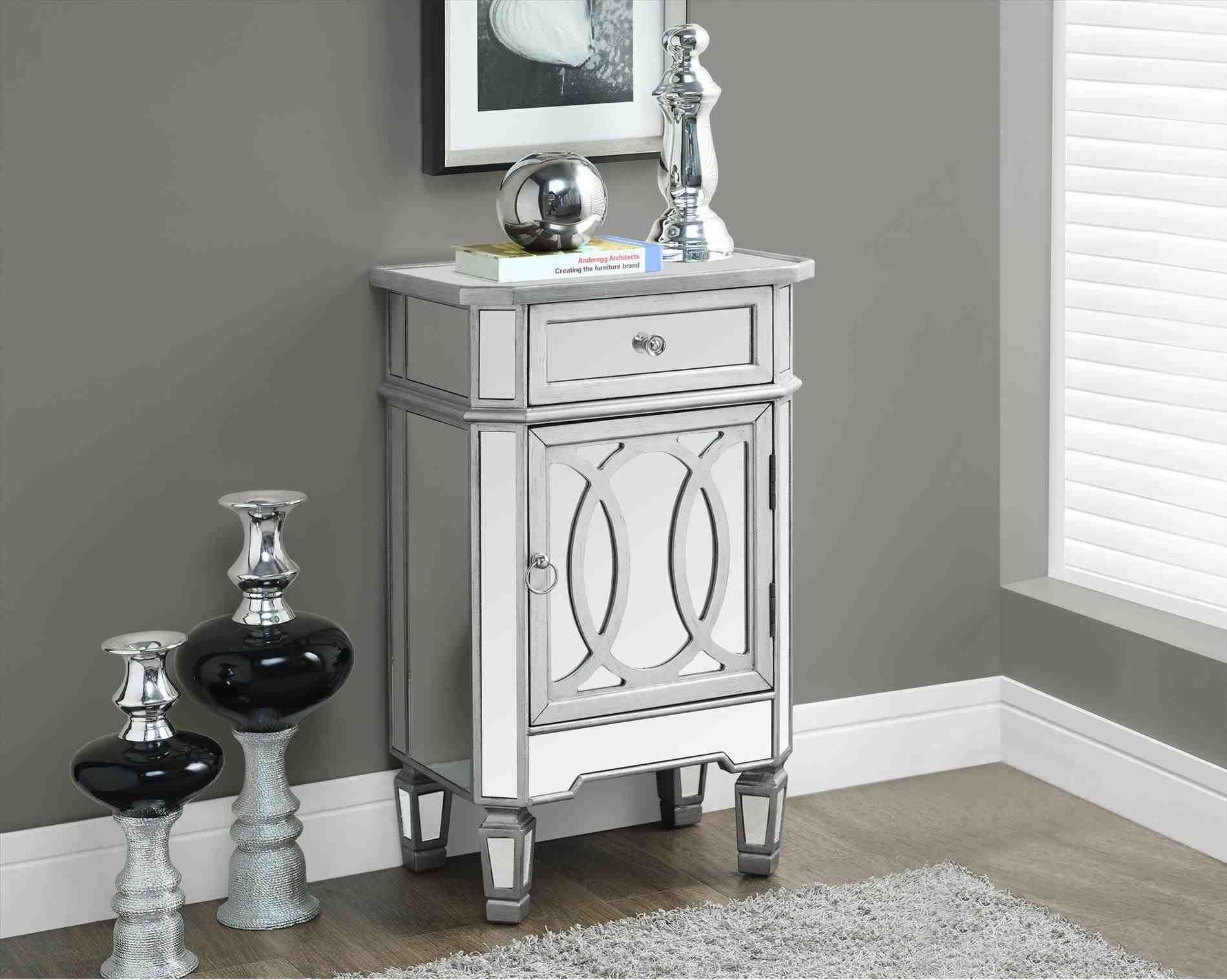 new post small accent table decor decors ideas threshold mirrored with drawer monarch specialties brushed silver mirror berwyn end metal and wood granite coffee set vintage desk