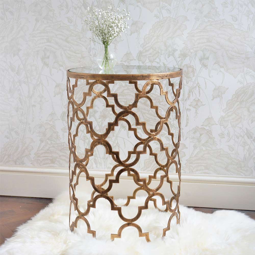 new quatrefoil side table everything users want need and love montrez gold accent door threshold seal small mirrored desk pottery barn reading lamp west elm stools ashley rocker