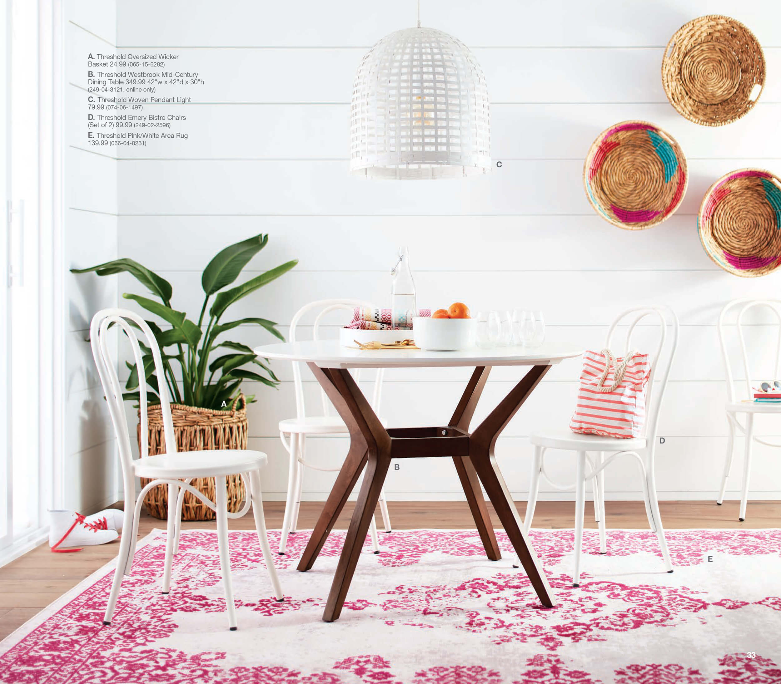 new target home product and emily henderson first look spring catalog threshold accent table walnut small wood side wall decor pulaski sofa chair set narrow cabinet pottery barn