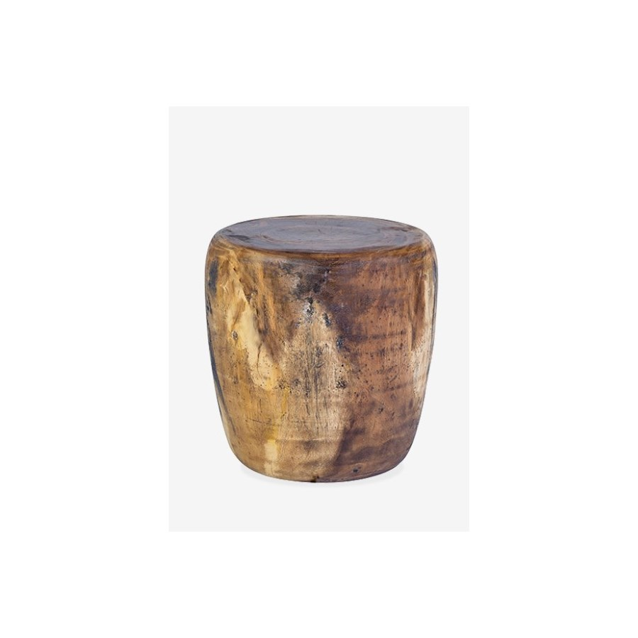 newcomb organic wood drum ott natural accent tables jeffan cylinder table green bedside lamps ikea plastic boxes ashley signature home sofa chair target gold console wicker