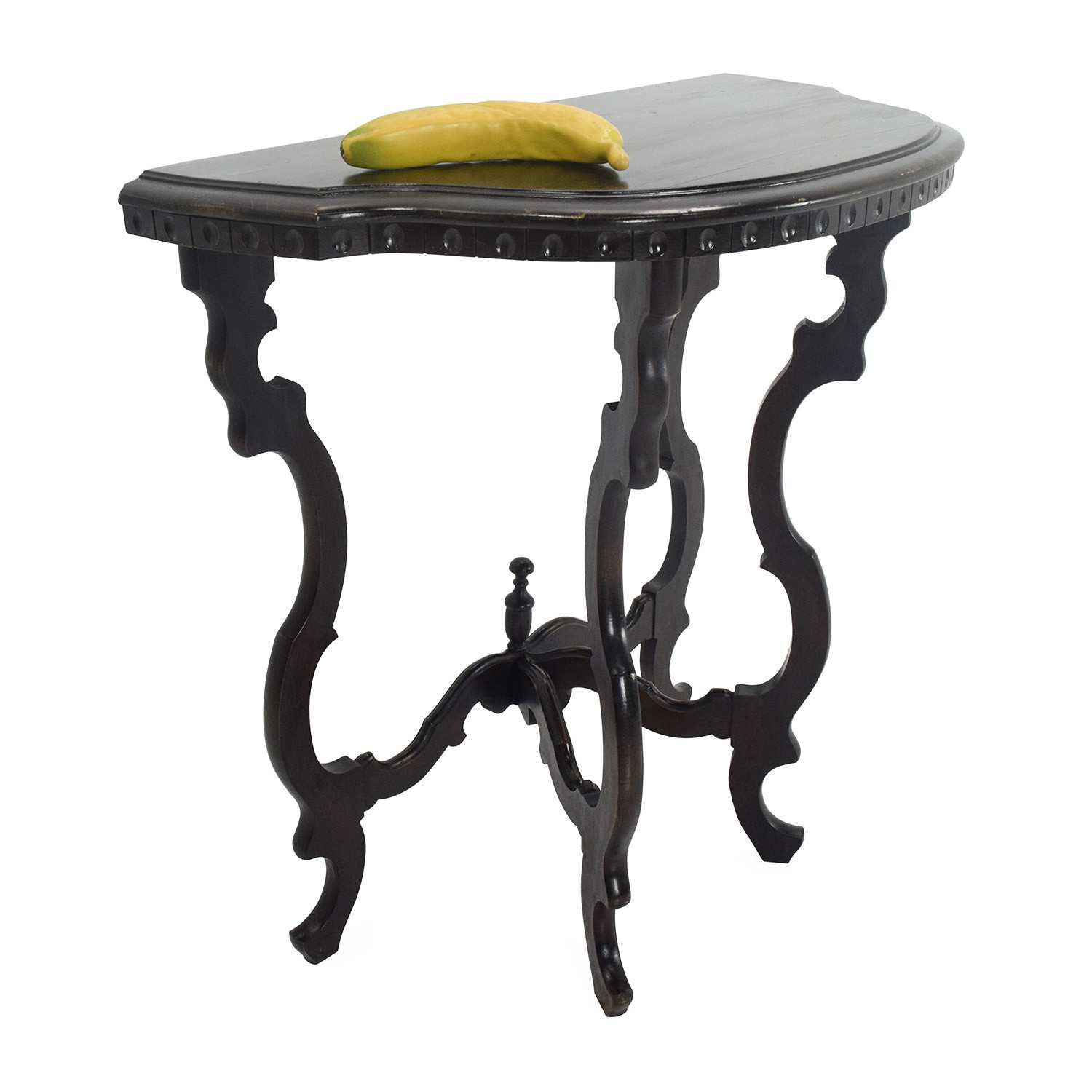 newest half moon accent table for side best off custom dark wood occasional tables black red patio umbrella small corner hallway marble nest trendy lamps concrete top mix living