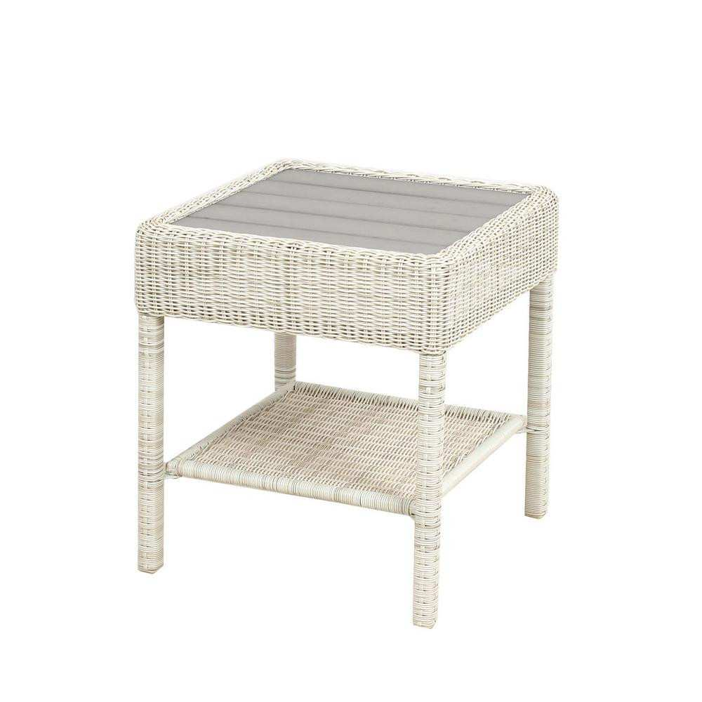 newest white outdoor side table for patio perfect hampton bay park meadows wicker accent ceramic round tablecloth black with drawer used furniture kohls bedspreads and comforters