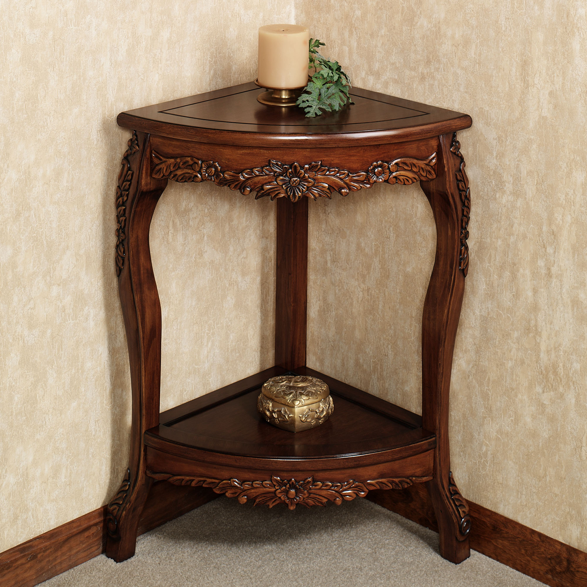 Corner Accent Table With Storage