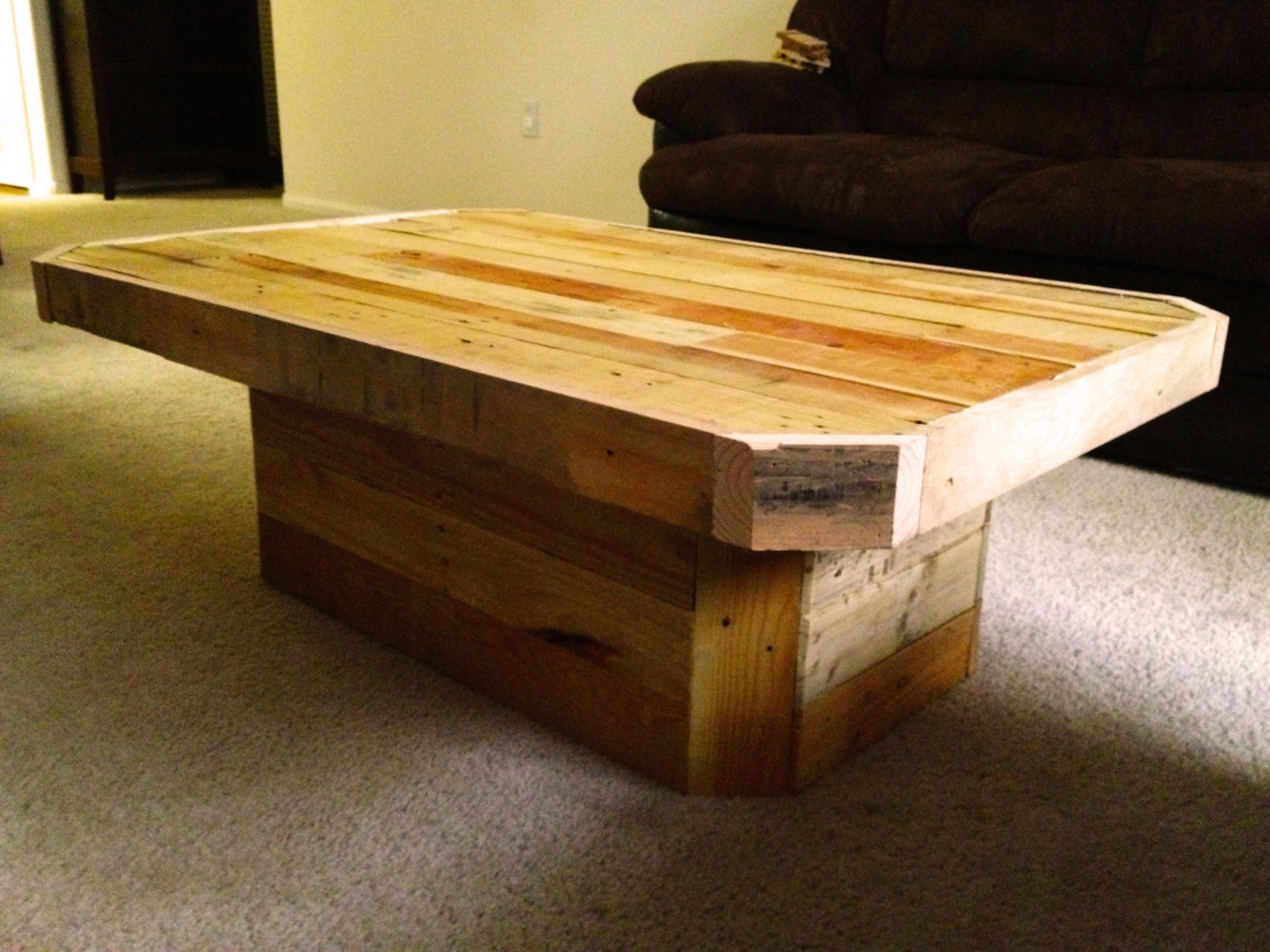 nice rustic pallet coffee table with side square solid wood farmhouse accent sauder harbor view inch high small red end deep console folding ikea corner farm dinette dining plate