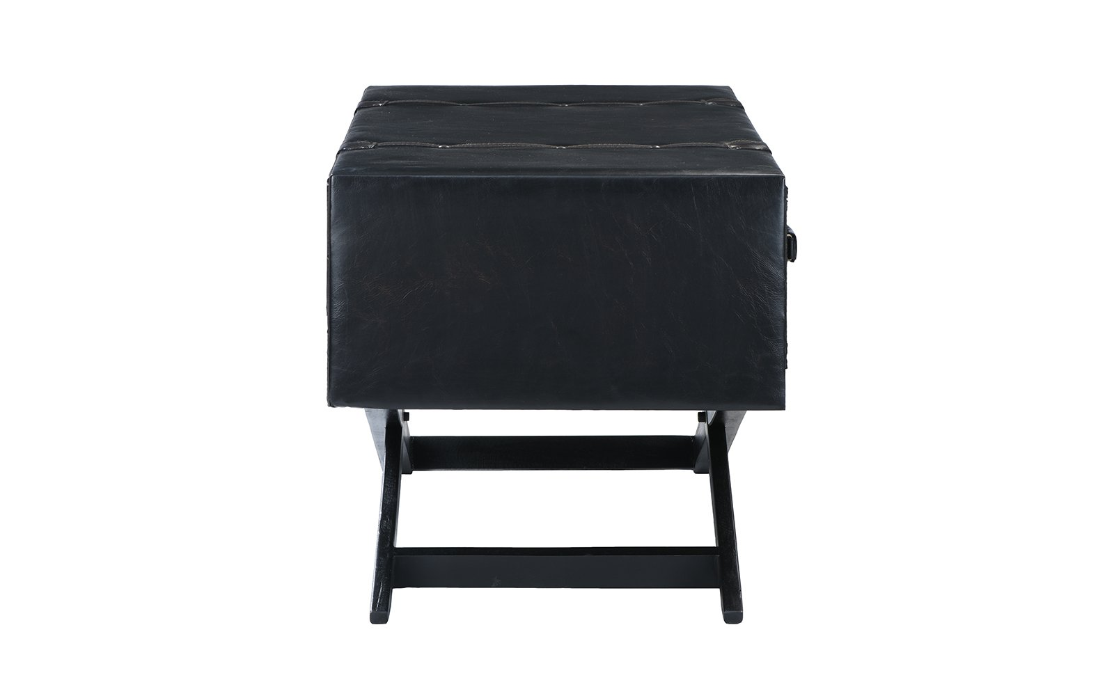 nicholas vintage faux leather accent table chest sofamania dbr white coffee set double pedal drum bedroom console wood with hairpin legs black metal outdoor end ikea hemnes