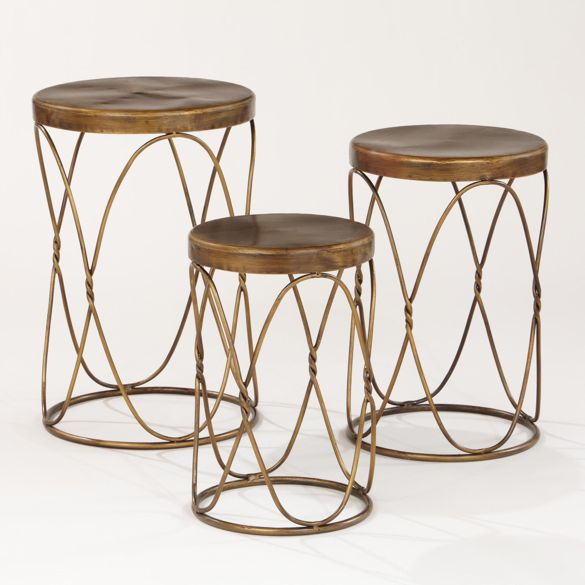 nico nesting tables set world market half moon accent table knurl metal accents for furniture door designs rooms blue stained glass lamp industrial chic mid century modern sofa
