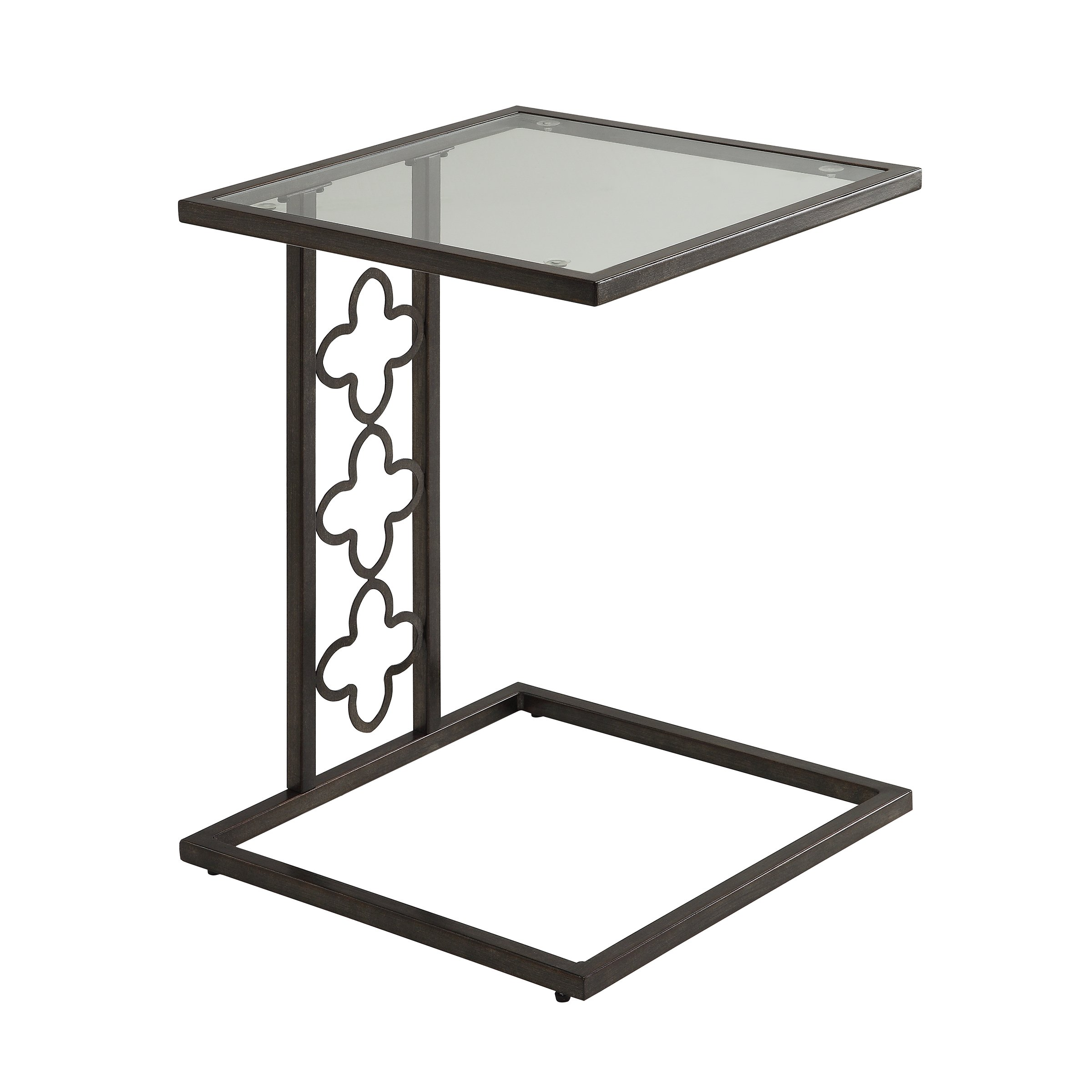 nico quatrefoil bronze metal glass accent table free shipping today small end with marble top black and chairs jcpenney drapes wall tall drawer antique kids furniture west elm