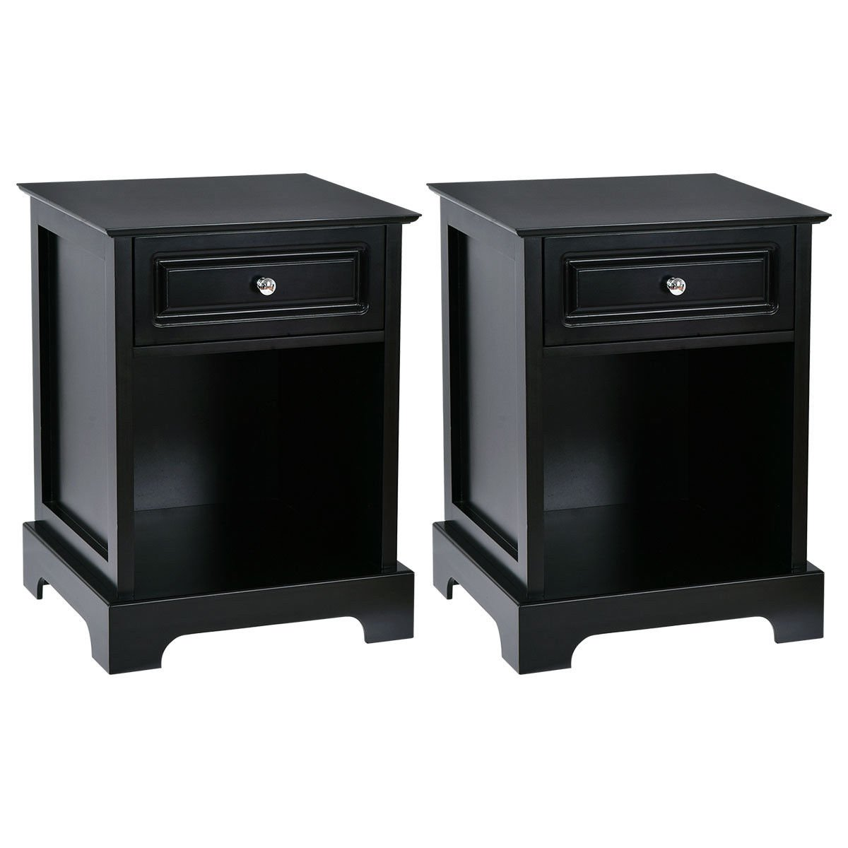 night stand end accent table drawer chest sofa side bedside storage black kitchen dining ashley furniture piece set with drawers drinks cooler mcm small concrete barn door room