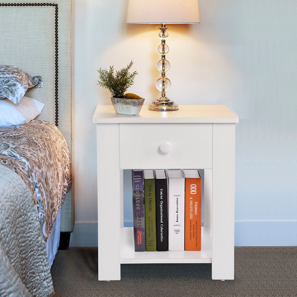 nightstand with drawer and shelf storage multipurpose winsome squamish accent table espresso finish end home furniture white kitchen dining danish modern wooden chairs pole lamps