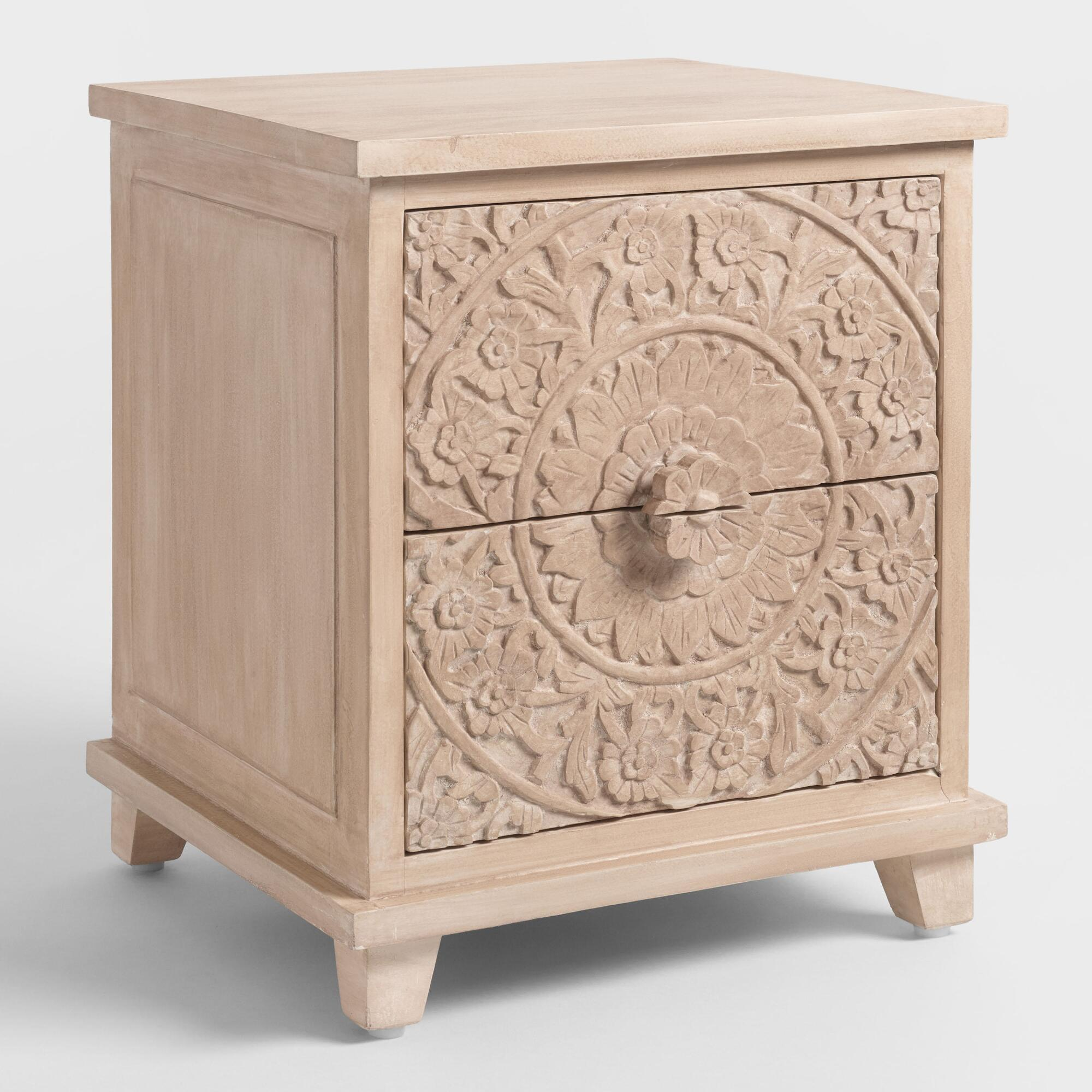 nightstands bedside tables vanity sets world market iipsrv fcgi metal virgil accent table natural carved zaria nightstand ikea dining and chairs storage cabinets white ginger jar