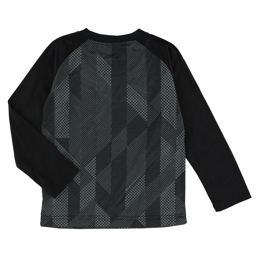 nike baby boys knurling print and swoosh long sleeve shirt black knurl accent table charcoal grey free shipping orders over computer tables for home fur blanket target shades