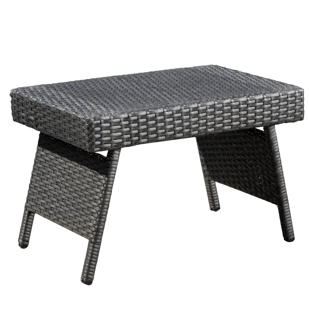 noble house aaron grey folding wicker outdoor side table tables black and white accent chair round oak end mirrored box coffee porch furniture industrial diy bistro tablecloth mcm