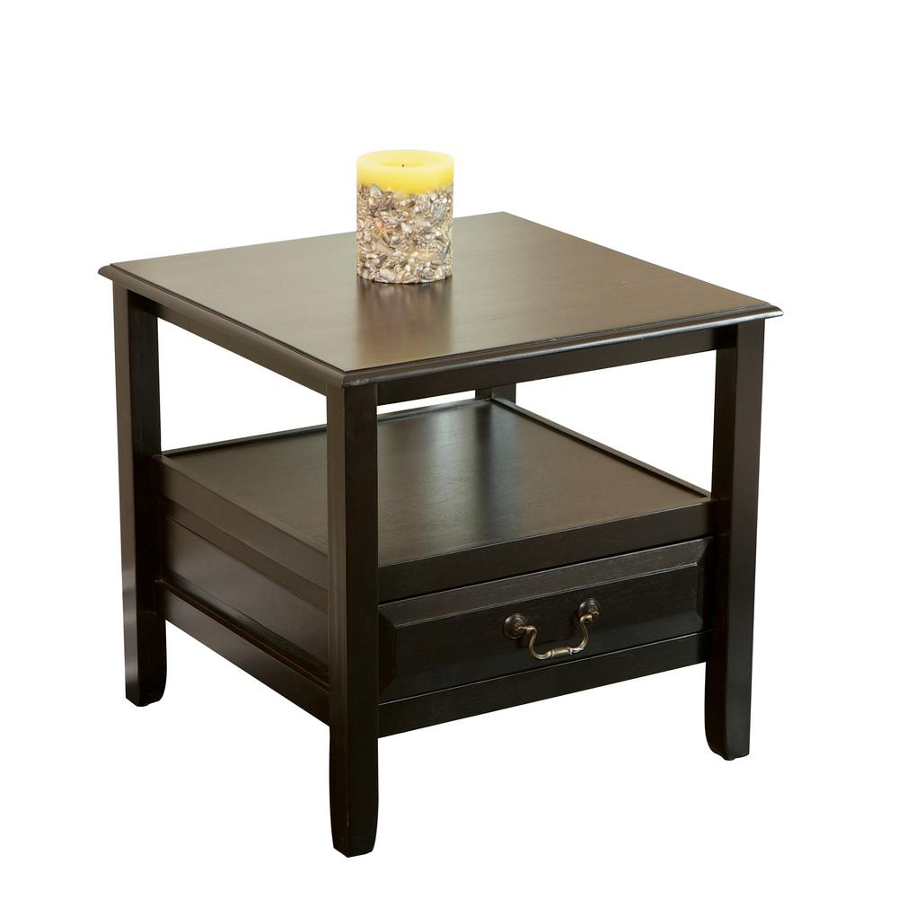 noble house atlanta dark walnut brown acacia wood accent table with end tables drawer and shelf transition bars for laminate flooring bunnings umbrella coastal themed chandeliers