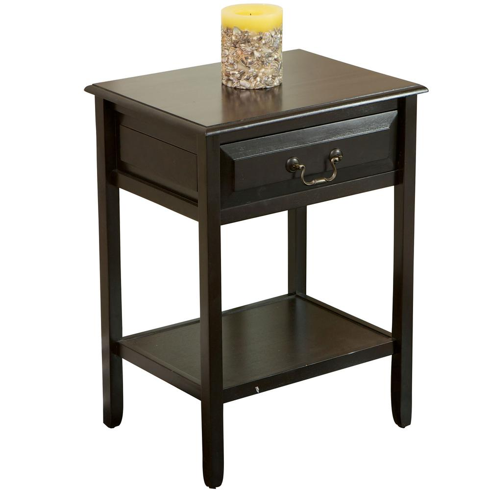 noble house banks dark walnut brown acacia wood accent table with end tables drawer and shelf windham threshold furniture tiffany style dragonfly lamp carpet tile transition