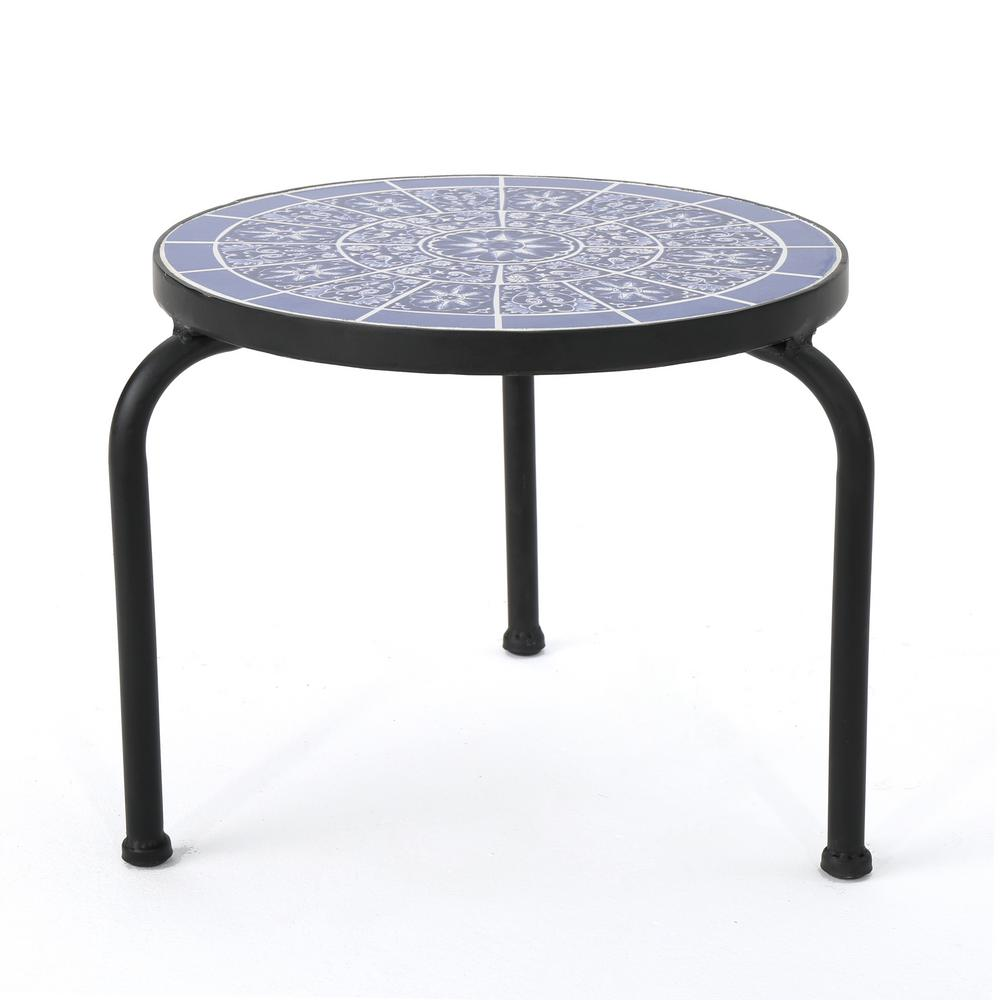 noble house caiden round metal outdoor side table the home tables bunnings garden furniture patio set umbrella diy cocktail pub style height blanket box ikea bench covers dining