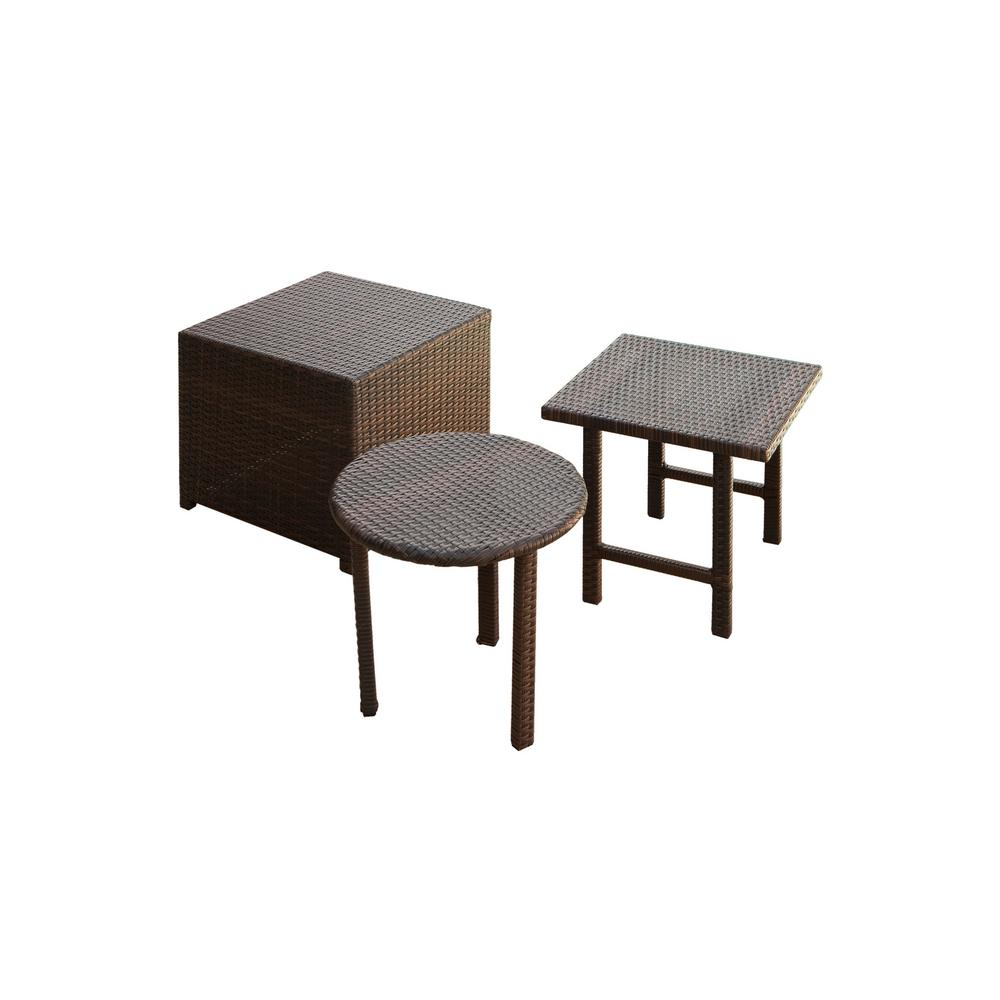 noble house christopher multi brown round and square wicker outdoor side tables accent table painted chest outside patio furniture covers black drum light grey rug oak trestle