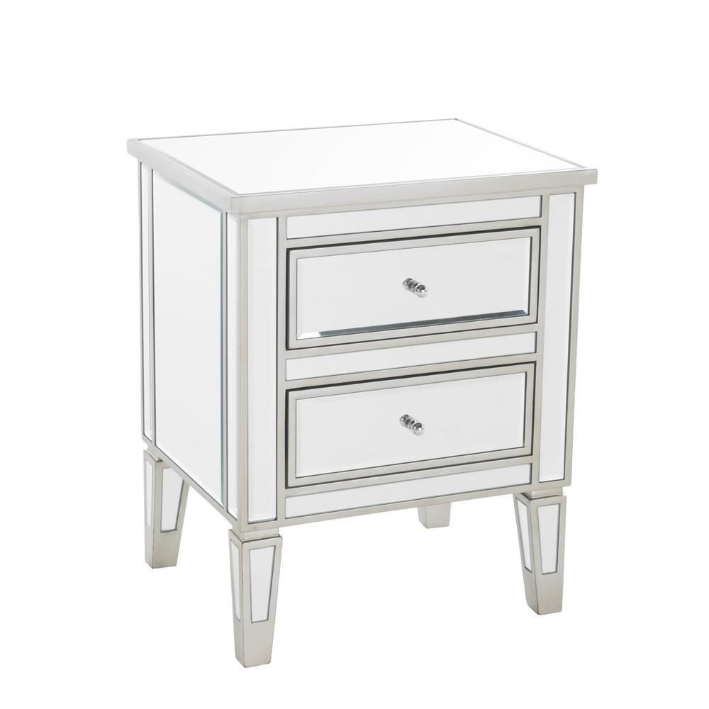 noble house craferd mirror silver drawer accent table the end tables white with drawers large marble outdoor grill island pottery barn round chair dining cloth design three hooper