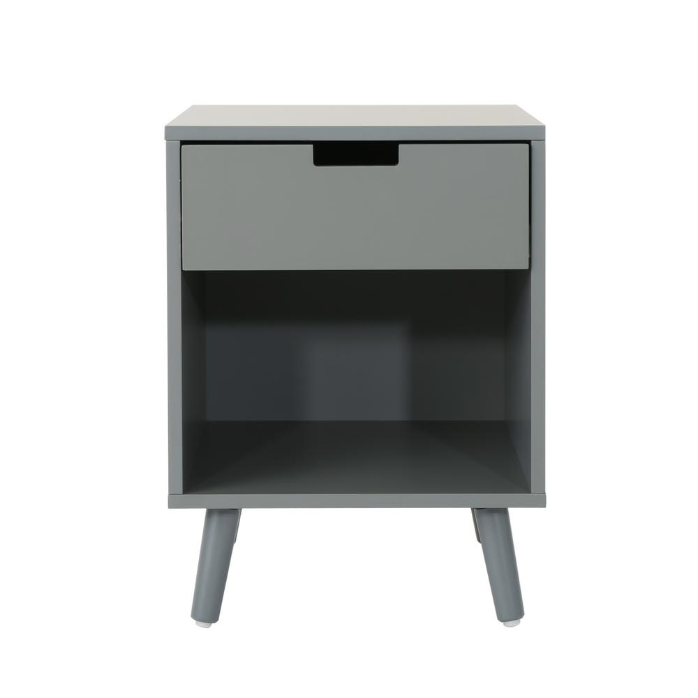 noble house ossian modern gray wooden accent side table with drawer end tables and shelf concrete top outdoor coffee square toronto ikea kitchen storage boxes clearance patio