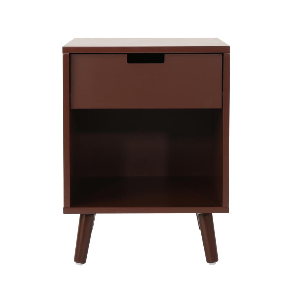 noble house ossian modern walnut brown wooden accent side table with end tables drawer and shelf outdoor wicker contemporary wall clocks glass patio trestle chairs narrow tray