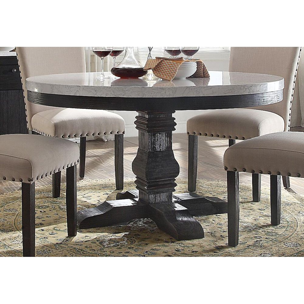 nolan dining table with pedestal white marble salvage dark oak accent lanterns target set knotty pine desk pier imports coupon off total entire purchase new vintage furniture