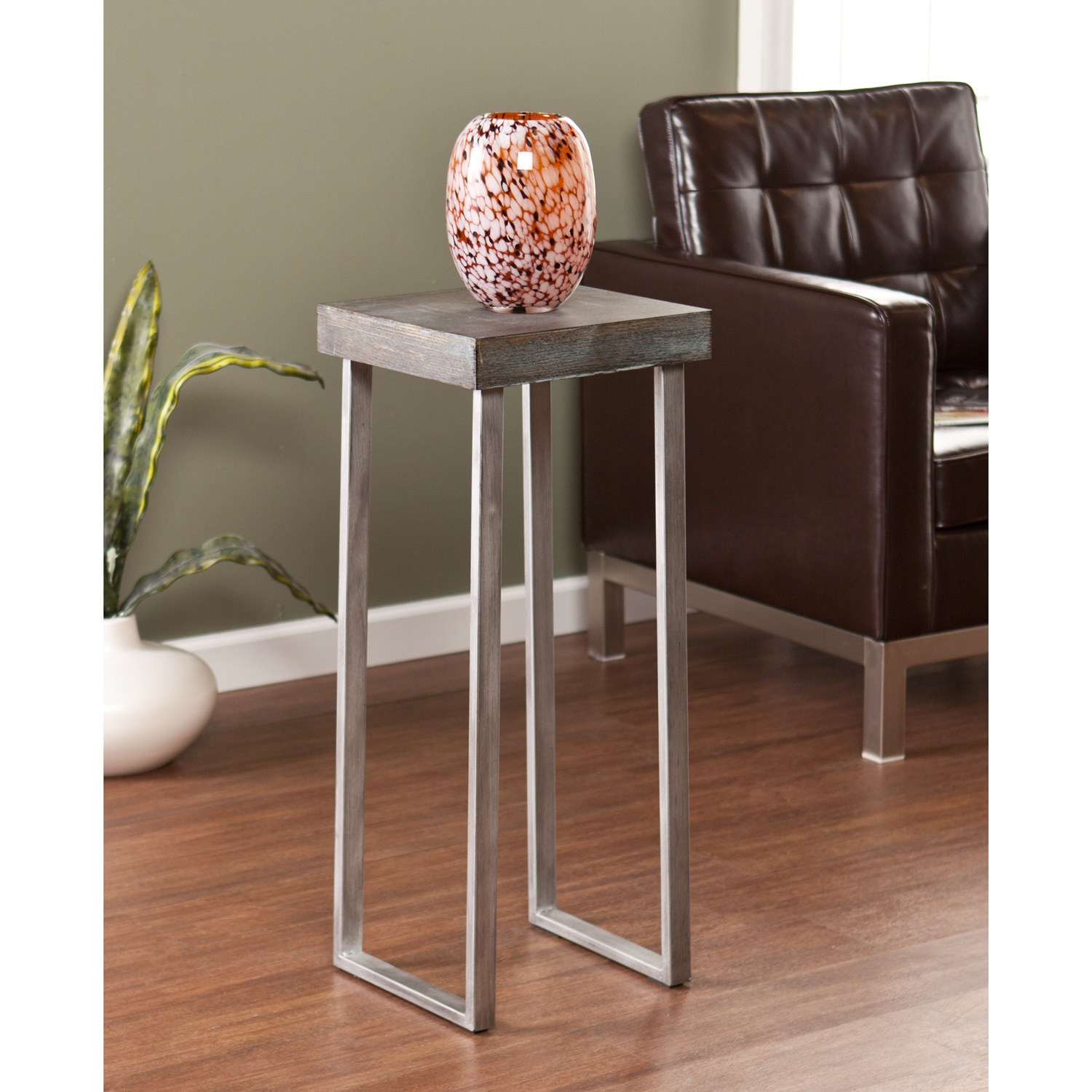 nolan pedestal accent table tables living room marble and chrome side cool floor lamps kitchen light fixtures coffee bases for granite tops modern top wrought iron with glass