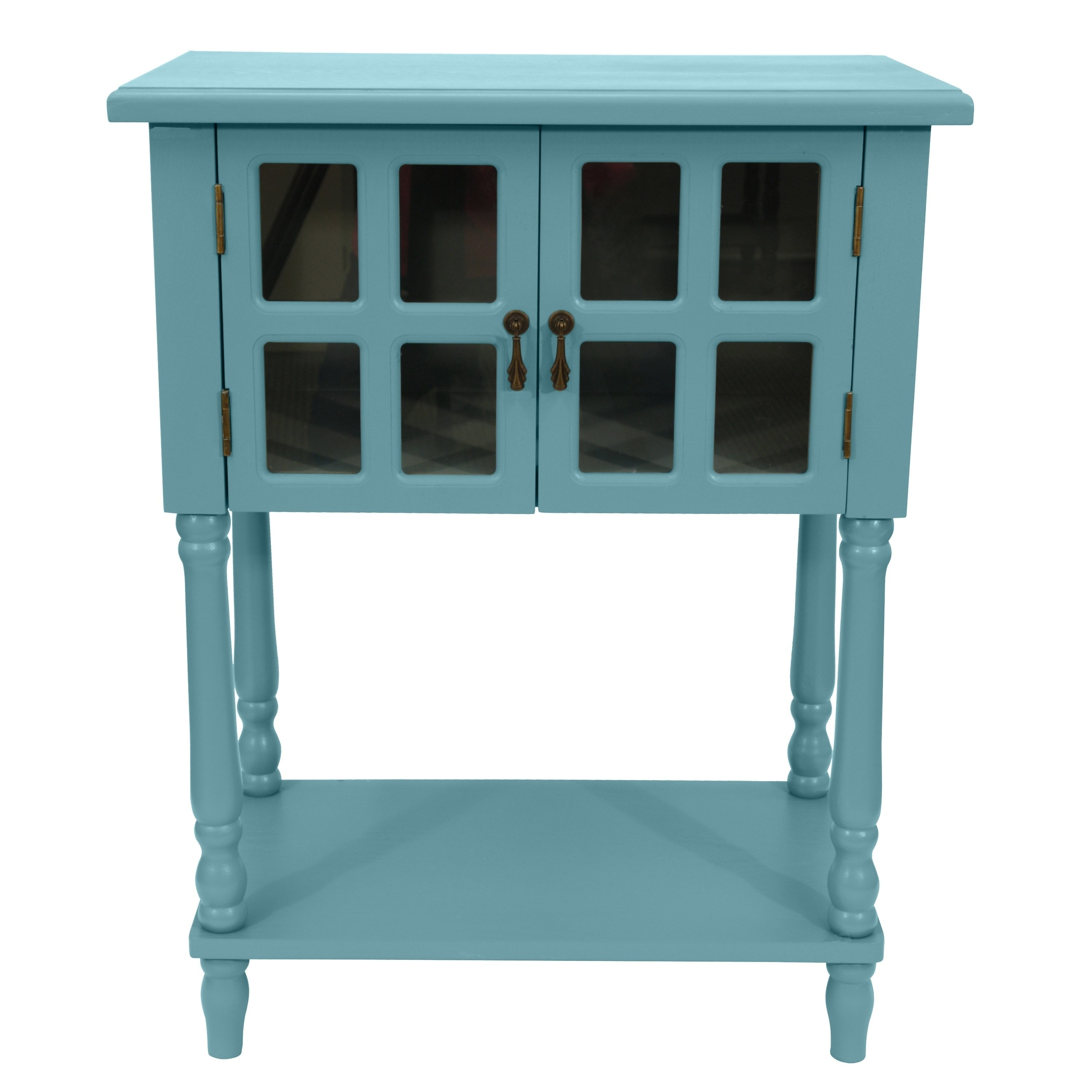 nora glass door accent table free shipping today teal small mirrored nightstand west elm arc lamp oval top coffee catnapper rocker recliner olympia furniture mirror frame marble