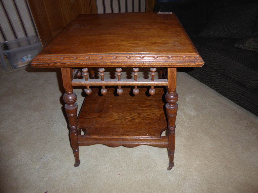 norcal estate auctions liquidation lot antique oak accent table wonderful vintage wood casters slab furniture tall skinny entryway pulls oblong coffee square side with storage