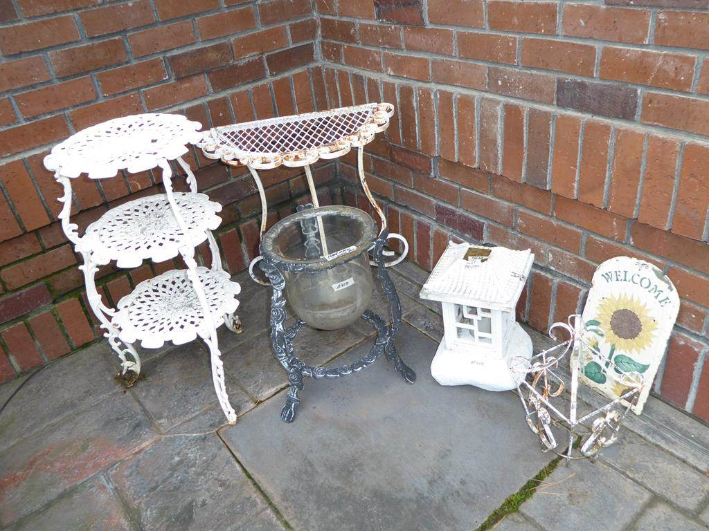 norcal estate auctions liquidation lot solar metal accent table glass flower pot light slate welcome sign half moon patio tier stand adjustable coffee ikea nesting tables sage